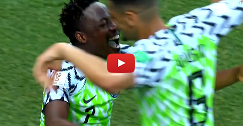 LIVE: Watch the second goal for MUSA and NIGERIA!