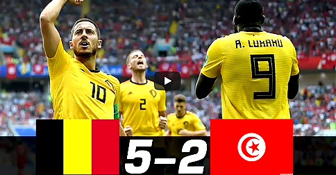Unbelievable: Watch the 7 GOALS in one game! Belgium v Tunisia highlights 5:2